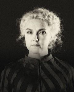 Marie Curie porträtt mellan